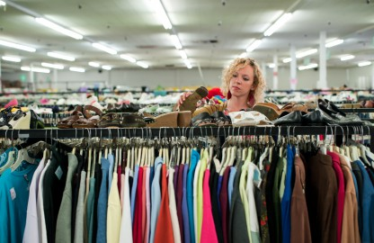 Thrift Store Goodwill Thousands of new donations daily