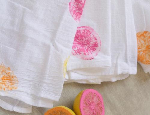 DIY Fruit Stamped Décor / Fashion