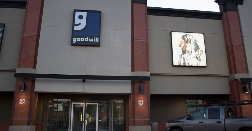 Goodwill ALberta Corporate Office Entrance at SouthPark Edmonton Location