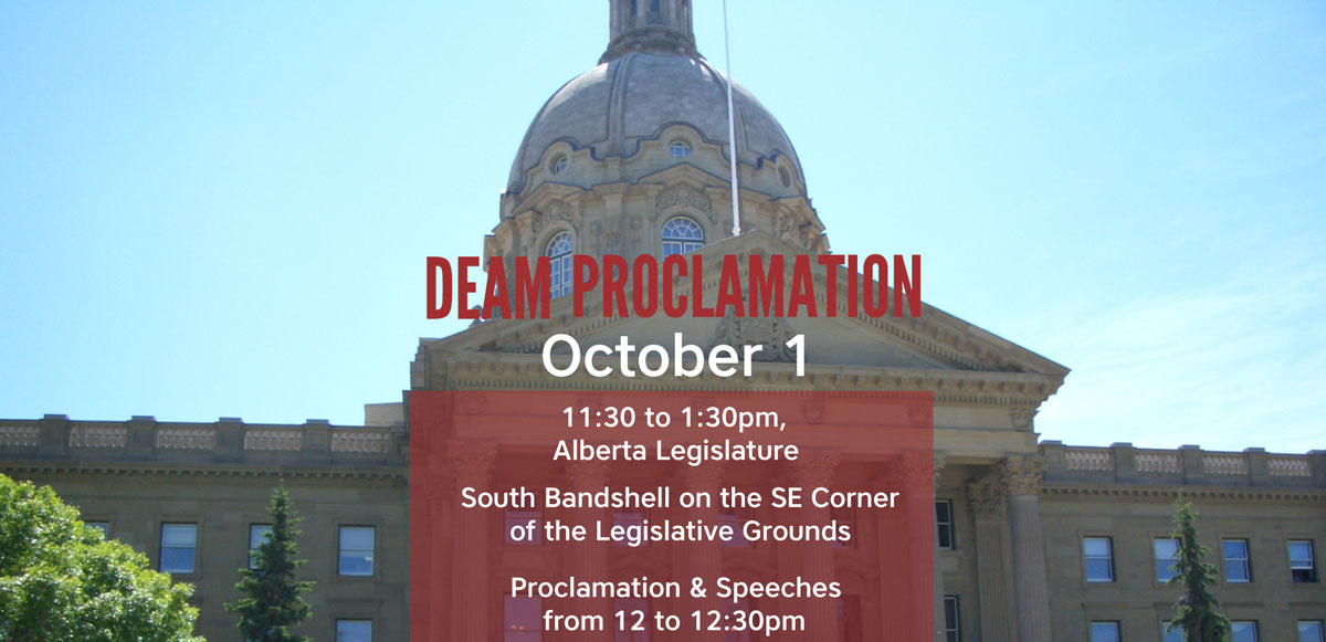 Provincial DEAM Proclamation – October 1